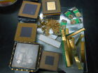 300g + Vintage Collectible CPU Processors Fingers Pins Scrap Gold Metal Recovery