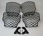 RFCustom Parts 08-17 Victory Horizontal Engine Cages Gloss Black Fits All 106ci
