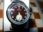 Zenith Vintage 40T Swiss Pilot Series 42MM Watch~w~Carbon Fiber Band/17 Jewels