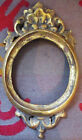 VINTAGE GOLD PAINTED WOODEN OVAL FRAME HAND CARVED MADE IN SPAIN