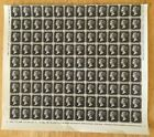 1800s Great Britain Penny Black Large Stamps sheet Reproduction