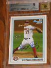 2010 Stephen Strasburg AUTO 1st Bowman Prospects BP1 Rookie Cd - BGS 9 FREE SHIP
