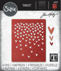 Sizzix Tim Holtz Thinlits Die Falling Hearts 664415 free shipping