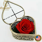 REAL Preserved Forever Rose Heart Crystal Box Anniversary Valentines Day Gift