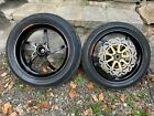 Black OZ Piega Forged Alloy Wheels Ducati 748 / 916 / 996 / 998 (6.00'' Rear)