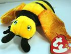 TY Beanie Baby Buzzie Bee  2000-2001 plush toy black/ yellow