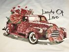 Womens XL Bella  Canvas old truck LOADS OF LOVE VALENTINES DAY t shirt NEW