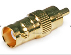 BNC Female to RCA Male Adaptor - Gold Plated