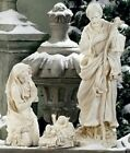 Outdoor Nativity Set Best Yet 275 inch White Garden Yard Durable Resin 3pc Set