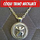 Puerto Rico Coqui Taino Metal Pendant Charm Silver Color 24 Inches Necklace