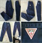90s Vintage GUESS 8 kids girls blue jeans tapered leg zipper ankle