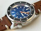 Squale MATIC professional 600 MT, 2824 ELABORE', shiny blue dial, racing
