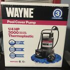 Brand New WAYNE 1 4 HP Thermoplastic Non Submersible Pool Cover Pump with Auto
