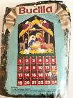 VINTAGE BUCILLA CHRISTMAS NATIVITY FELT SEQUIN ADVENT CALENDAR KIT COMPLETE 1991