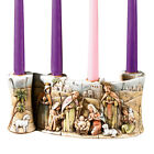 Resin Nativity Scene Scroll Advent Wreath