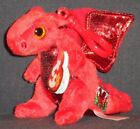 TY Y DDRAIG GOCH the DRAGON KEY CLIP BEANIE BABY - UK EXCL - 2015/2017 VERSION