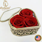 REAL Preserved Forever Rose Heart Crystal Birthday Anniversary Valentines Gift