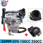 24mm ATV Carburetor Intake Manifold For GY6 150cc 250cc Scooter Moped Go Kart