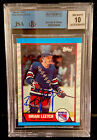 1989-90 #136 Brian Leetch Rookie Signed. NYR auto. 10 Autograph Card BGS NM-MT+