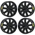 17 CHRYSLER TOWN  COUNTRY 08 16 GLOSS BLACK WHEELS RIMS FACTORY OEM 2332 SET