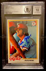 1978 Topps #20 Pete Rose Signed. Reds auto. 10 Autograph Card BGS NM-MT+