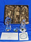 MINT 3 pc Waterford Nativity Crystal Mary Joseph Jesus BOXED w Stickers
