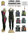 Womens 2 Piece Workout Tank Top + Ankle Legging Yoga Gym Running Athletic Set
