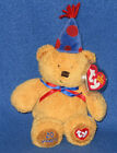 TY LAUGHTER the BEAR BEANIE BABY - 20TH ANNIVERSARY - MINT with NEAR PERFECT TAG