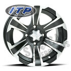 ITP SS312 Wheel 12x7 4/115 Black w/Mach 5+2 Arctic Cat 550 H1 EFI Le (2009-2010)