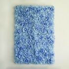Blue Silk Roses Hydrangea Flowers Wall Backdrop Vertical Panels Wedding Party