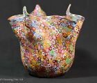 Fine Millefiori Large Art Glass Vase attributed to Fratelli Toso 8 inch MINT