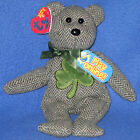 TY McLUCKY the BEAR 2.0 BEANIE BABY - MINT with MINT TAGS - UNUSED CODE