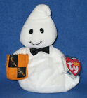 TY GHOSTIO the BOY GHOST BEANIE BABY - MINT with MINT TAG