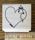 HEART WITH MOUSE PEEKING OVER THE EDGE Rubber Stamp by SUZYS ZOO