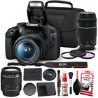 Canon Rebel T7 DSLR Camera +18 55mm Lens Kit and Carrying Case Creative Filters