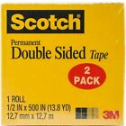 Scotch Permanent Double Sided Tape 2 Pack Photo Safe Adhesive Mounting