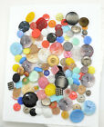 160 LOT OLD CZECH VINTAGE GLASS BUTTONS Assorted Colors  Sizes