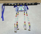 10 ABALONE CONCHOS NATIVE AMERICAN INDIAN LEATHER BELT W 3 PIECE HANG DOWN SET