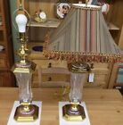 Signed Waterford Crystal Florence Court 30 Polished Brass Table Lamp