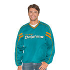 G III Sports Miami Dolphins Mens Red Zone V Neck Pullover Jacket M 5XL