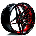 20 Staggered Marquee Wheels M3259 Black Red Inner Rims Popular