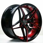 20 Staggered Marquee Wheels M3259 Black Red Inner Rims fit MBZ CLS55 AMG