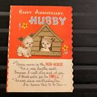 Vintage Greeting Card Anniversary Dog House Dogs