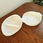 Vintage Anchor Hocking Divided Serving and Round Baking Dishes