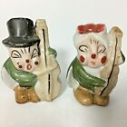 VTG Cricket Salt  Pepper Shaker Set Bass Instrument Made Japan Grasshopper Bug