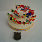 1984 Hostess Salute The World Olympic Spirit Stand With 25 Flags  Belt Buckle