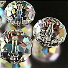20 Clear Rondelle Beads Glass Crystal Faceted 6x4mm Jewelry Supplies