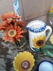 Beautiful fun bright Sunflower kitchen decor in great pre owned condition