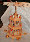 Vintage Wooden Carousel Nativity 3 Tier Candle Holder