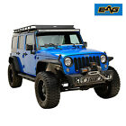 EAG Black Front Bumper Stubby without Hoop Fit for 07 18 Jeep JK Wrangler